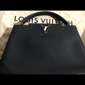 Louis Vuitton Capucines PM Cobalt Fuchsia Bag